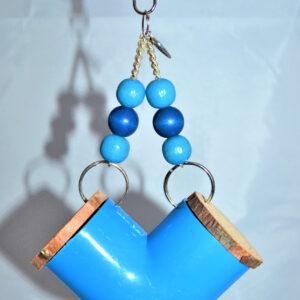 grabbelbocht blauw foerageerspeelgoed